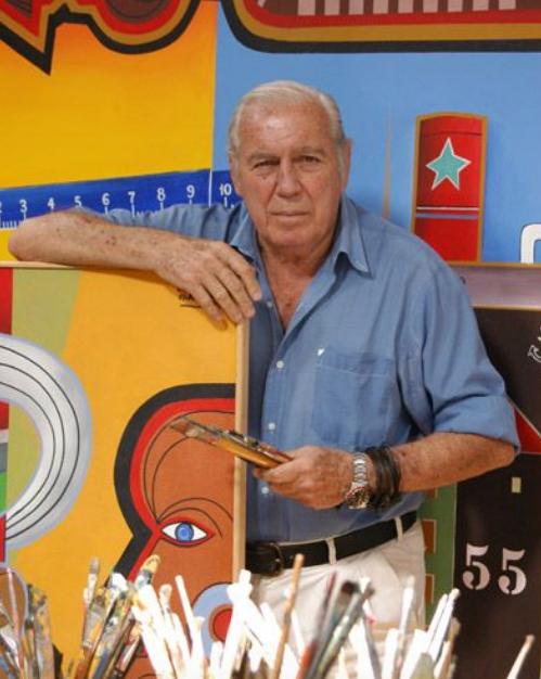 Carlos Paez Vilaro pintando en Casa Pueblo - Punta del Este Investments